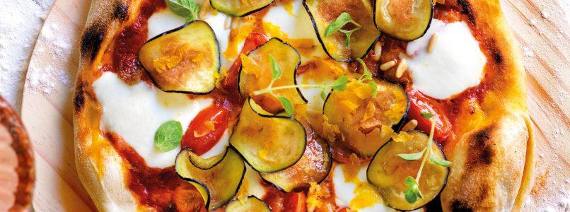 Ricetta Pizza con melanzane fritte