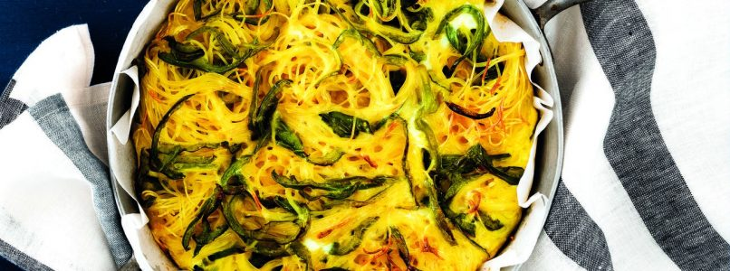 Ricetta Frittata di spaghetti e peperoni verdi